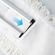 Cotton yarn pad installation