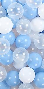 blue white balls