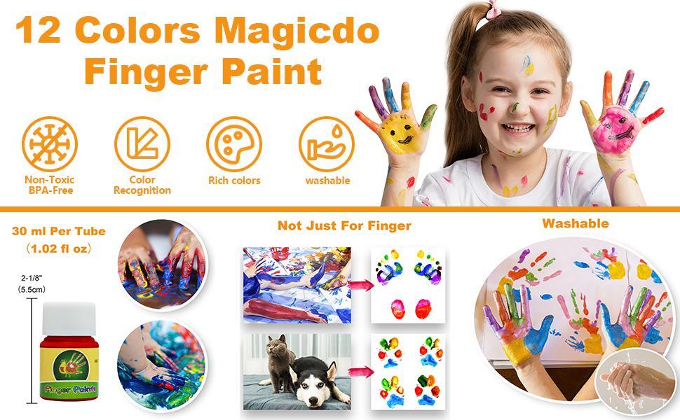 finger paint for todders