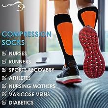 Man wearing Zayaan Health compression socks on a treadmill.