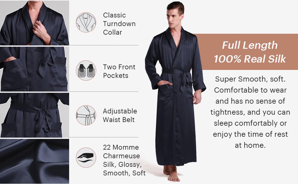 silk robe for men