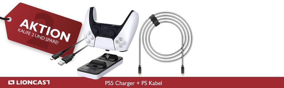 PS5 Kabel und Charger Lite