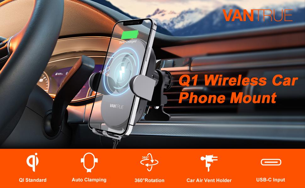 Q1 wireless car phone mount