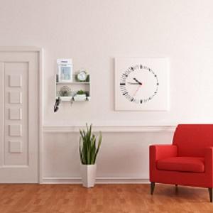 Entry Key and Mail Organizer Shelf with Hooks