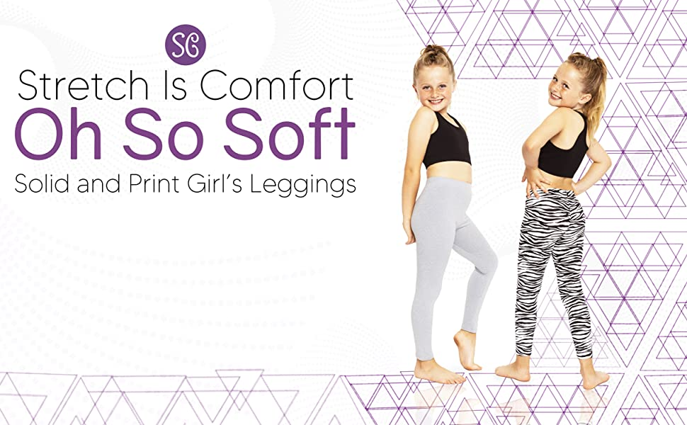 Title Module Oh So Soft Solid and Print Girl's Leggings