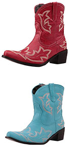 Women Retro Ankle Boots Embroidered Western Short Boots
