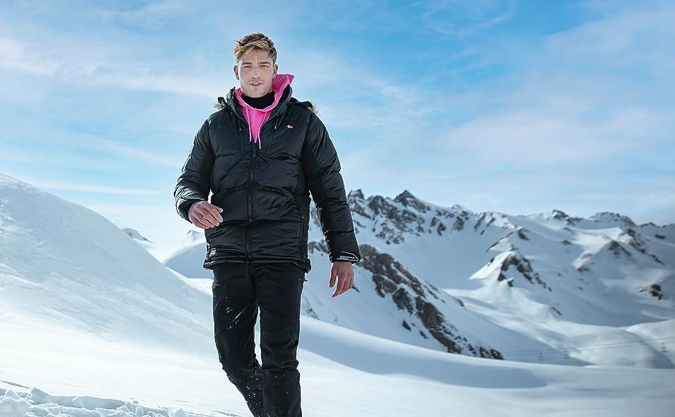 Geographical Norway Kula Hommes Veste D/'Hiver Parka Parker avec fausse fourrure