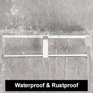 rustproof bathroom toilet paper holder with shelf