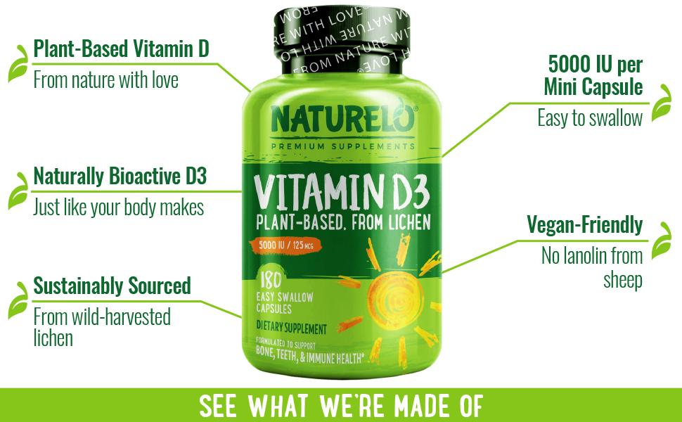 vitamin d, d3, plant based, lichen