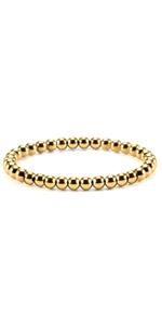 Stainless Steel Gold Bead Bracelet