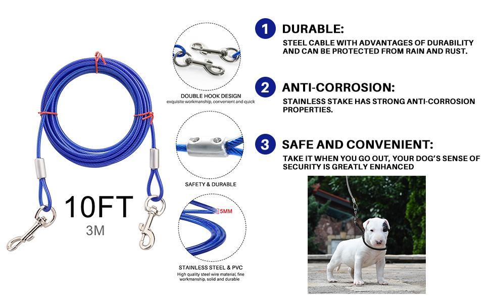 dog yard cable