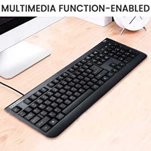 keyboard typing durable water resistant usb touch user-friendly compatible multimedia switch SPN-ONL