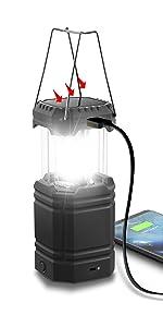 solar hand crank camping lantern