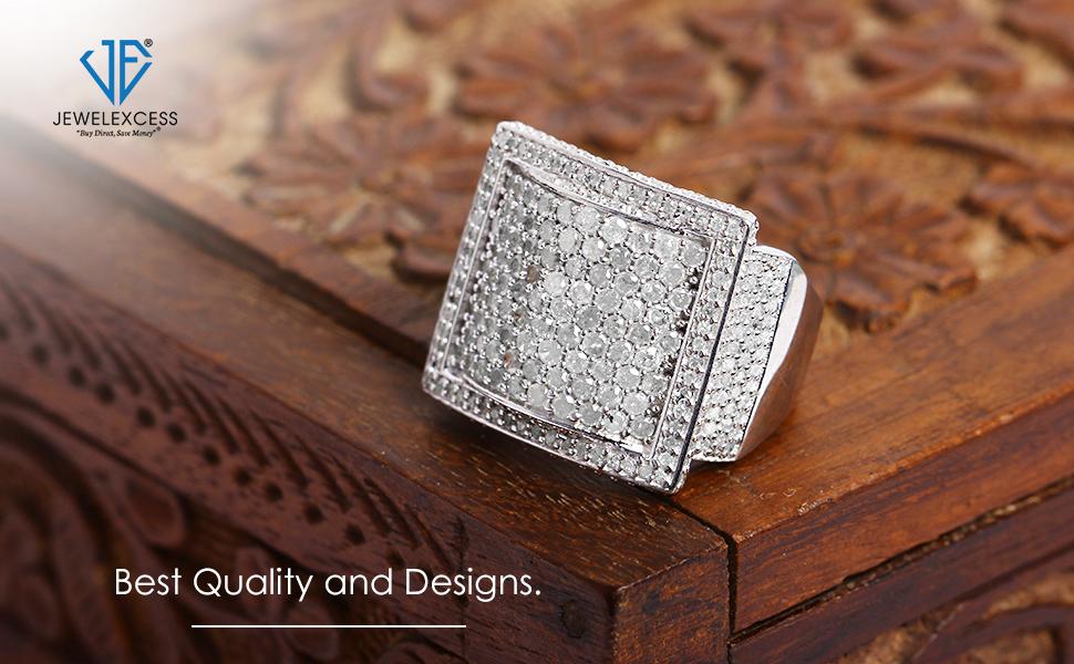 2 Carat White Diamond Ring in Sterling SIlver
