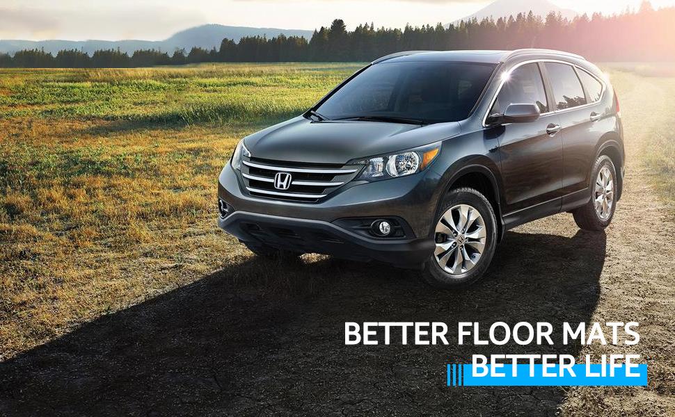 Floor Mats Fits 2012-2016 Honda CR-V CRV All Weather