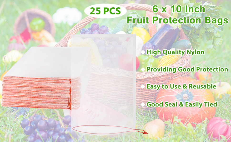 6x10 fruit protection bags