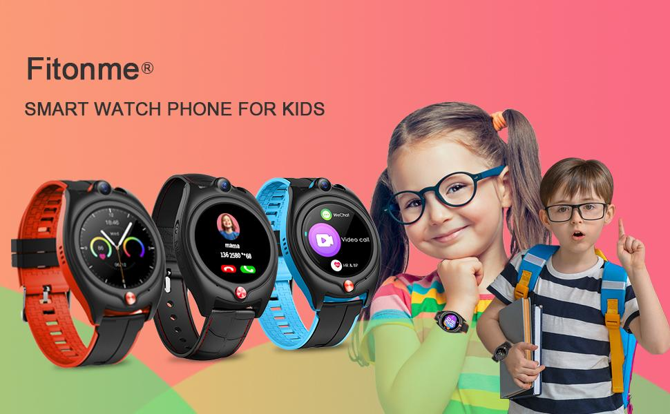 Fitonme 4G Smart Watch Phone for Kids