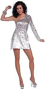 Disco Fever Silver Dress