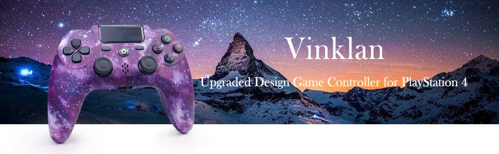 Vinklan 2021 Upgraded Design Game Controller for PlayStation 4