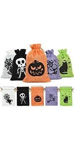 Halloween Burlap Gift Bags