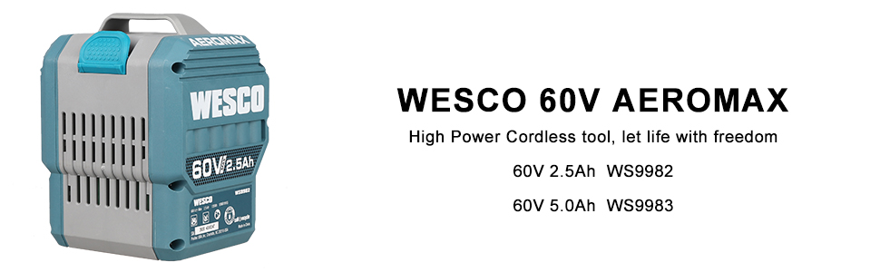 WESCO 60V Battery Grass Cutter
