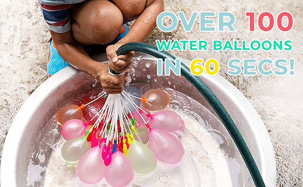 Ready Over 100 Water Balloons in 60 Seconds!