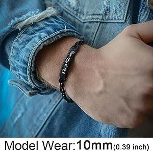 black id bracelet for men