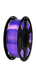 silk 1.75mm violet purple pla 3d printer filament