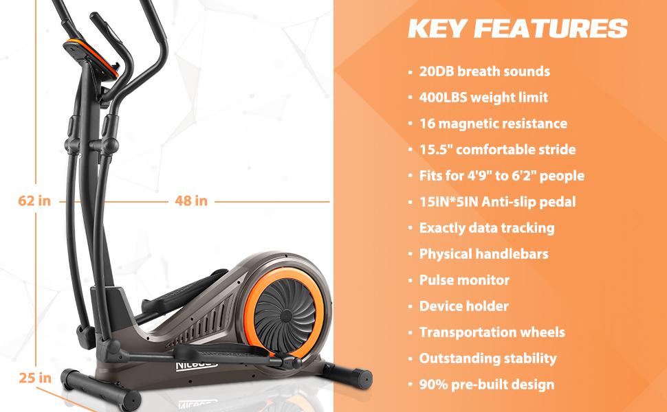 key features for elliptical machine