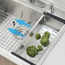 workstation kitchen sink