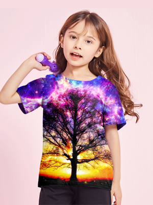 girl t shirts colorful shirts for girls space t shirts for kids