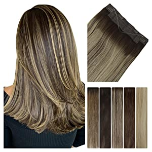 halo hair extensions real human hair with wire clips
