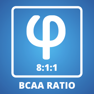 The Legendary 8:1:1 BCAA Ratio with 8 times more Leucine than Valine and Isoleucine