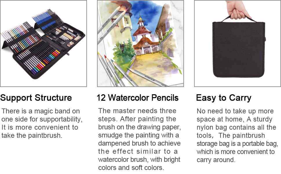 WATERCOLOR Colored Metallic Pastel Sketching WOODLESS GRAPHITE Willow Charcoal Sticks  Graphite