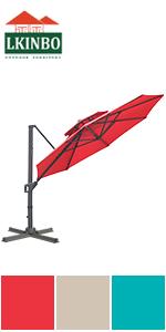 11FT Umbrella Red
