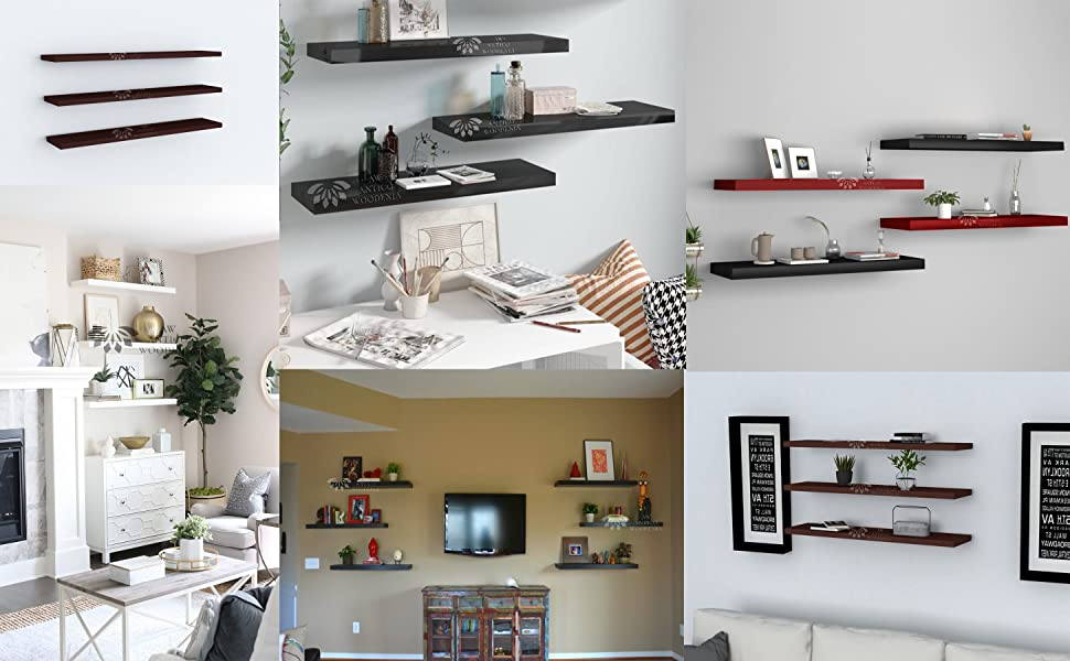 wooden wall shelf shelves mount bracket mounts for  decoration decor  hall home rack racks