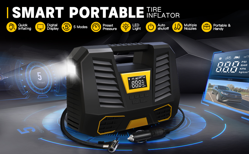 Smart Portable Tire Inflator