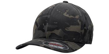 Black Multicam Stealth Cap
