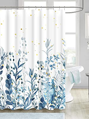 floral teal shower curtain