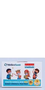 MédicoSanté ASTM Level 3 PEDIATRIC Surgical mask