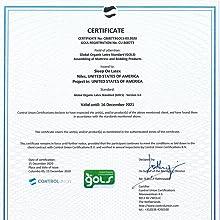 GOLS Certificate