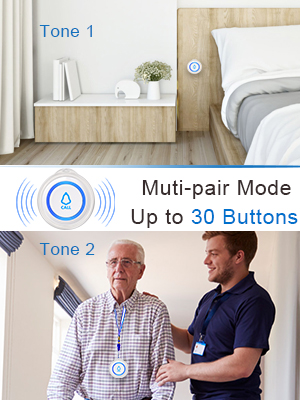 Muti-pair Mode Up to 30 Buttons