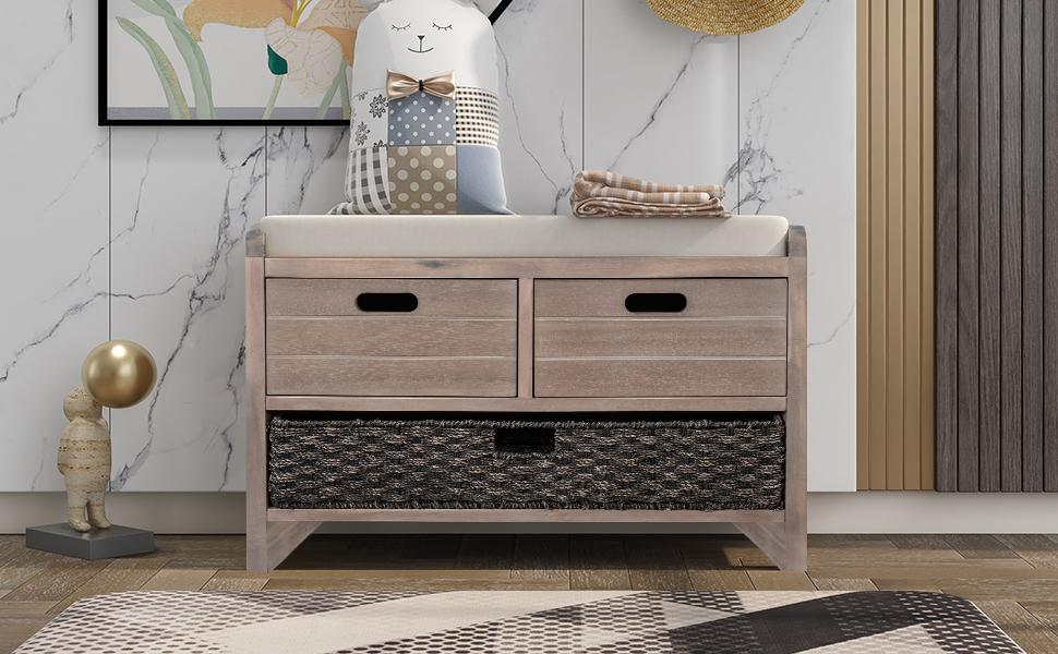 storage bench with drawer