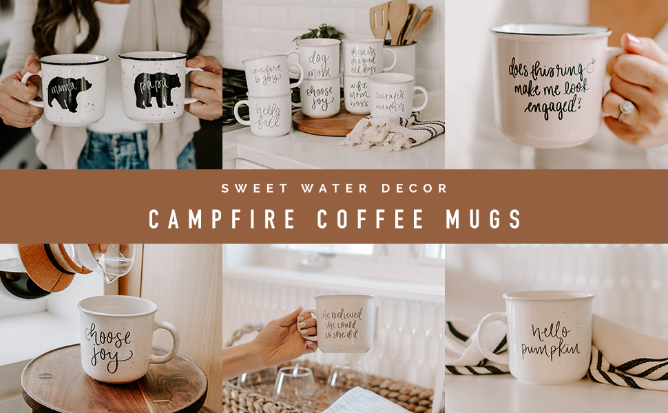 sweet water decor ceramic coffee mugs hand lettered motivational inspirational quotes