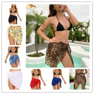 Women Sarong Beach Wrap Swimsuit Cover Ups Like Skirts