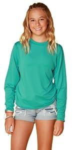 Ingear Girls Outdoor Sports Shirt UPF Girls sun shirts Girls Long Sleeve