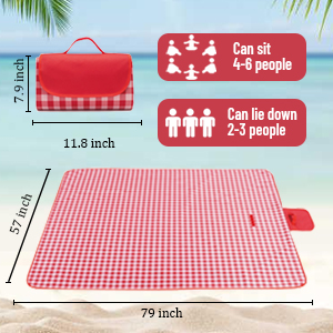 large size picnic blankts can fit 4 or more people