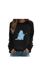 Long Sleeve Graphic Pullover Tops
