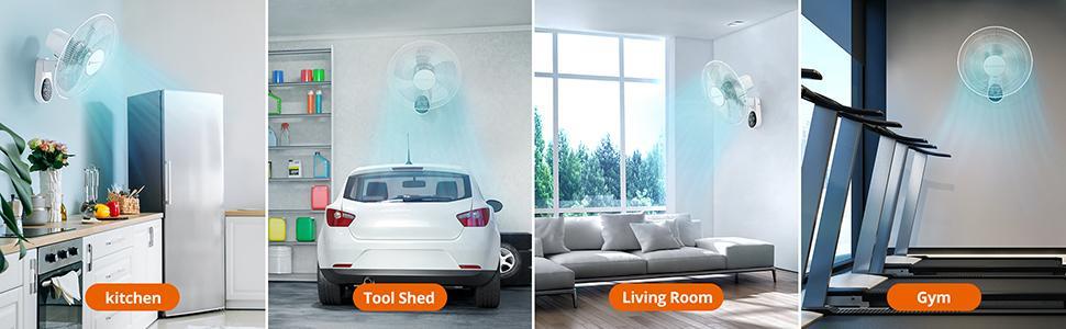 wall mount indoor fan
