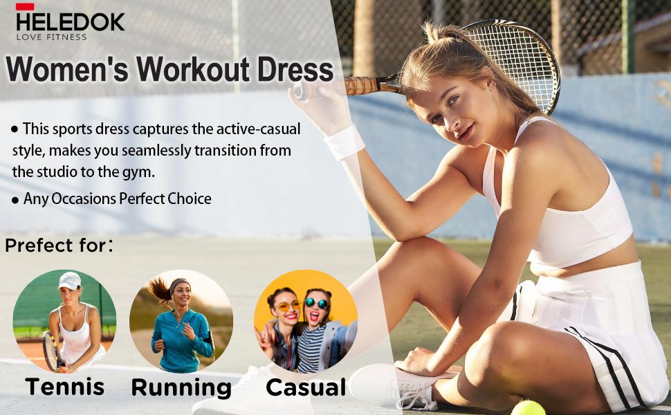 women's workout dress tennis dress